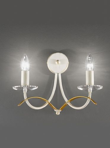 Franklite FL2233/2 Painted Cream / Gold Wall Light